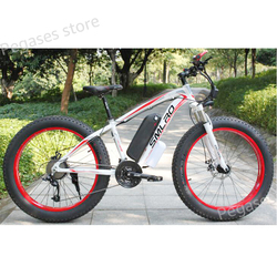 26 Inch Electric Bike 1000W Motor Fat Tire Mens Snow Beach Ebike 48V 13AH Lithium-ion Battery Adult Snowbike Electric Bicycle