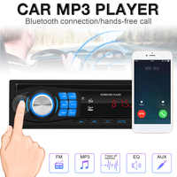 12V Bluetooth Car Radio MP3 Player Vehicle Stereo Audio with Remote Control Support FM USB SD AUX In 1 DIN For Car Vehicle Auto