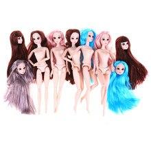 30 cm boneca bjd bela princesa bonecas 20 articulações movable nude corpo diy cabelo boneca