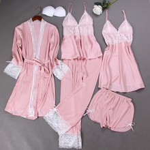 Silk Homewear Clothing Lace Trim Sleep Lounge Pyjama Women P