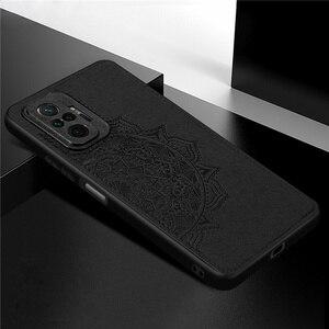 Image 5 - Cover For Xiaomi Redmi Note 10 Pro Case For Redmi Note 10 Pro Capas TPU Cloth Fabric Texture Cover For Redmi Note 10 Pro Fundas