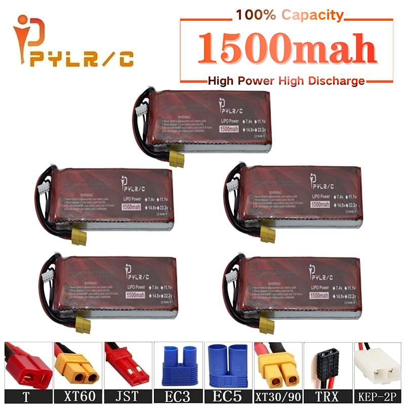 High Rate 7.4v 1500mAh Lipo Battery For RC Helicopter Parts 2s Lithium battery 7.4v 35C RC Cars Airplanes Drones Battery T/XT60