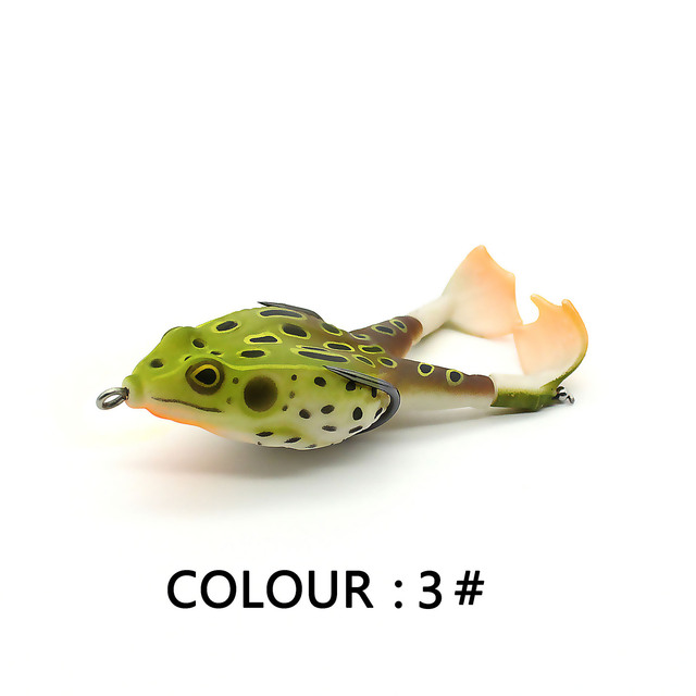 Double Propeller Frog Soft Baits Shad Soft Lure Jigging Fishing Lure Bait Prop Topwater Catfish Silicone Artificial Wobblers 6