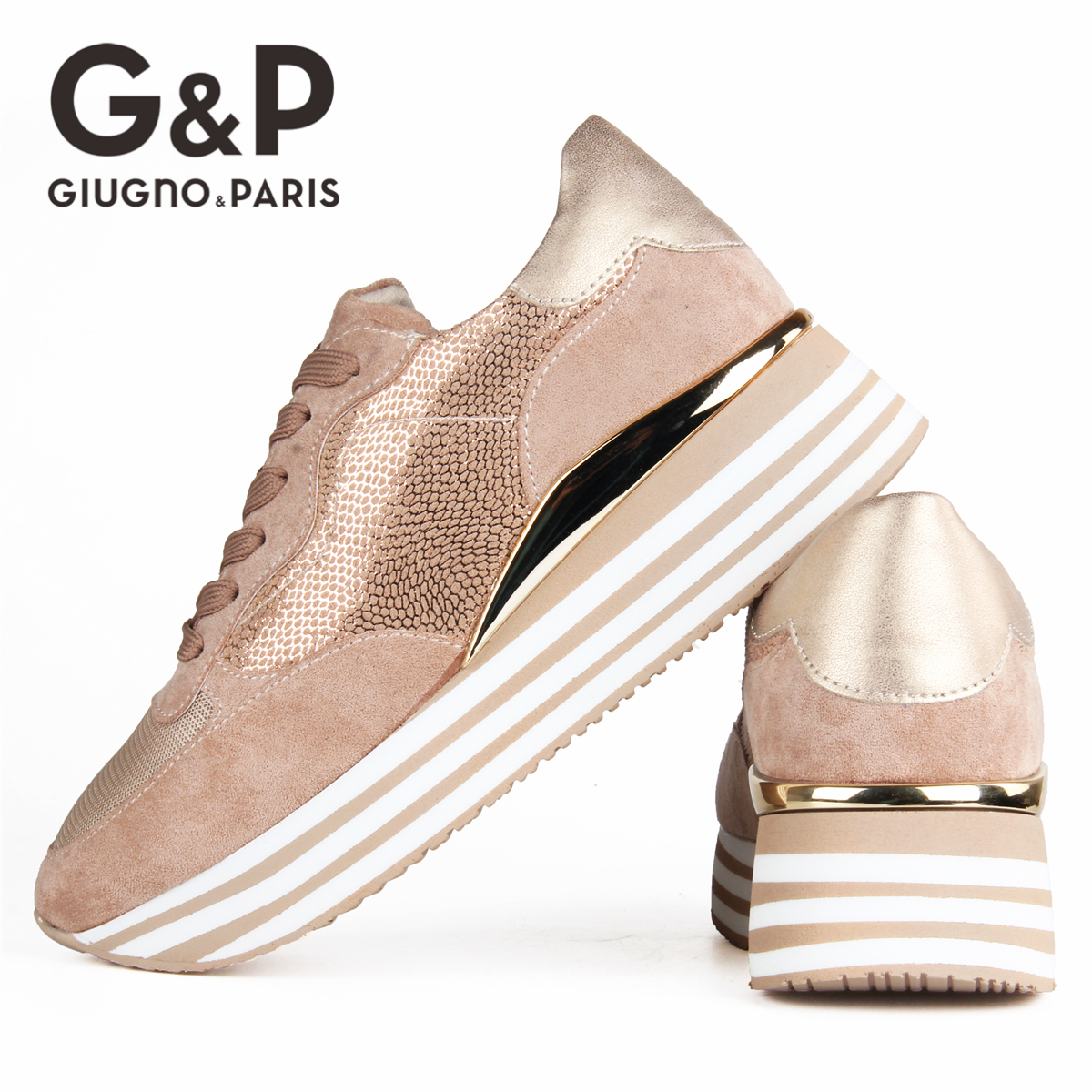 2020 Brand Sneakers Women Breathable Shoes New Design Casual Flats Platform Fashion Bling Sneaker with Big Size 1