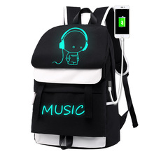High capacity luminous Laptop Backpack for men and women USB Charging Backpack Waterproof backpack teenagers casual travel set