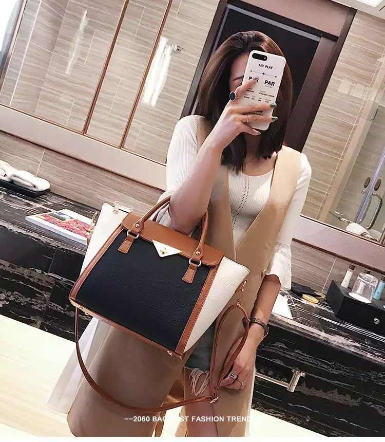 Bolsos de cuero para mujeres 2019 bolsos de lujo Pupara mujeres bolsos de diseñador grande bolso de mano de Cadena de cuero bolso