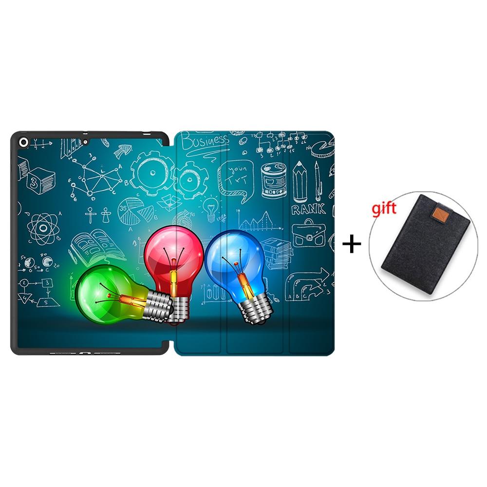 IPTPU05 Green MTT Case For iPad 10 2 inch 7th 8th Generation 2020 Soft TPU PU Leather Flip