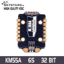 Skystars – contrôleur de vitesse électronique pour Drone RC, pour course FPV, KM55 4 en 1 55A ESC DSHOT600/1200 blheli _ 32 3-6S