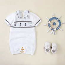 Baby Rompers Summer Boys Birthday Clothes Newborn Knitted Jumpsuits Outfits Fashion Knit Toddler Infantil Kids Sunsuit Bodysuit