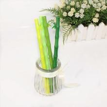 Artificial Plants Fresh Bamboo Pen Wholesale Kawaii Modelling Neutral Pen Black Bamboo Bamboo Students Creative Felt-tip Pens цена в Москве и Питере