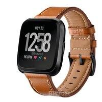 Nuevas de cuero pulsera correa para Fitbit viceversa 2 3 banda de Fitness lazo genuino de cuero correa de reloj de repuesto para Fitbit.