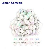 Lemon Comeon 3 шт. силиконовый массажер бусины, прорезыватель аксессуары DIY Прорезыватель для прорезывания зубов бусины Пищевая силиконовая игрушка для ожерелья Браслет