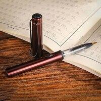 Aquarela caneta criativa água macia escova caneta metal haste de alumínio tinta recarregável pintura quente caligrafia desenho arte suprimentos