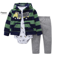 3 Pieces Baby girls clothing set 2019 Autumn Winter Fleece warm Baby Baby Clothes Cartoon Bear Clothing Tights Sweater Sets