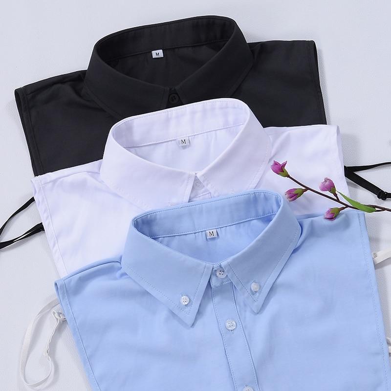 Elegant White Detachable Collar Men Offcial Formal False Collar Shirt Lapel Fake Collar For Men's Blouse Clothes Accessories