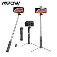 Mpow-Palo de Selfie 3 en 1, trípode Universal con Bluetooth y Control remoto, luz de relleno de 3 niveles para iPhone 11, Huawei, P30
