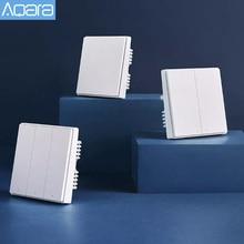 Przełącznik do montażu ściennego Aqara D1 Smart ZigBee Zero Line przewód oswietleniowy pilot bezprzewodowy przełącznik do montażu ściennego do HomeKit Xiaomi Mi Home
