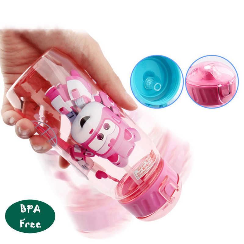 Per bambini Tazza di Acqua tazza di paglia di Plastica Anti-caduta bollitore BPA Libero Comodo materiale Tritan tazza Del Fumetto Bella Super ali