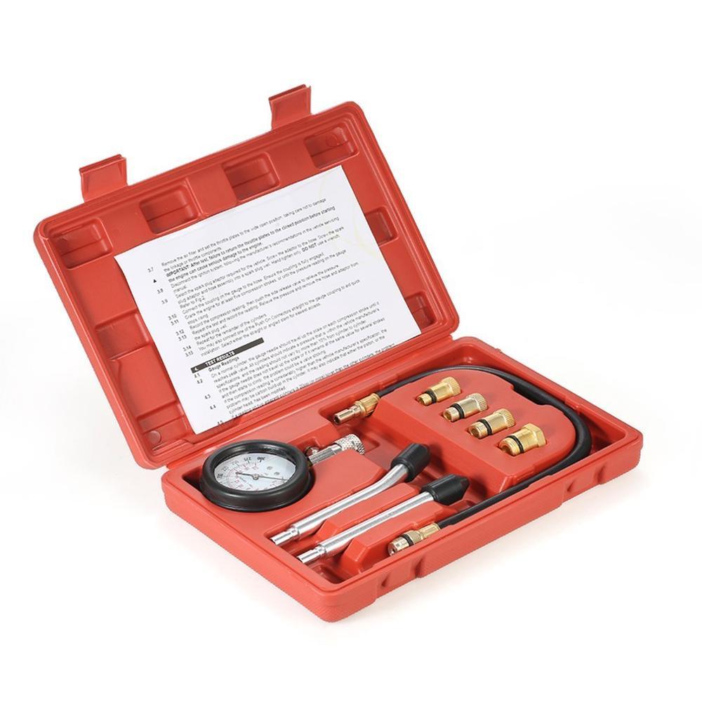 Car Gasoline Engine Compression Tester Gasoline Engine Cylinder Car Pressure Gauge Car Test Kit Tester