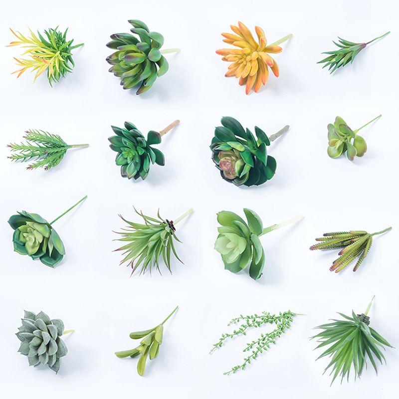 Green Plant Wall SimulationG Decoration DIY Simulation Succulent Material With Grass