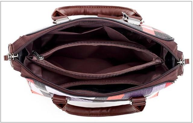 New 4pcs/Set Women Bags High Quality  Leather Shoulder Messenger Bags Tote Bag 3