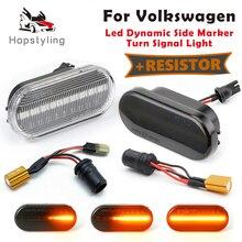 2 Stuks Dynamische Led Side Marker Richtingaanwijzer Sequential Blinker Lamp Voor Vw T5 Jetta Bora Caddy Amarok Konijn 4 Sharan 1 Vento