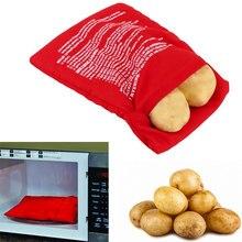 Cozinha microondas cozimento saco de batata reutilizável saco de fogão de microondas rápido cozido bolsa de batata saco de tecido lavável