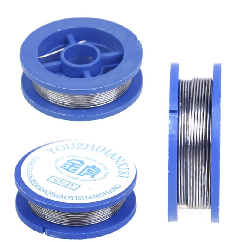 HUXUAN Новый 0,8 мм припой проволока катушки канифольное ядро паяльные сварочные Железная проволока катушка для сварки практика Flux, 1 шт.