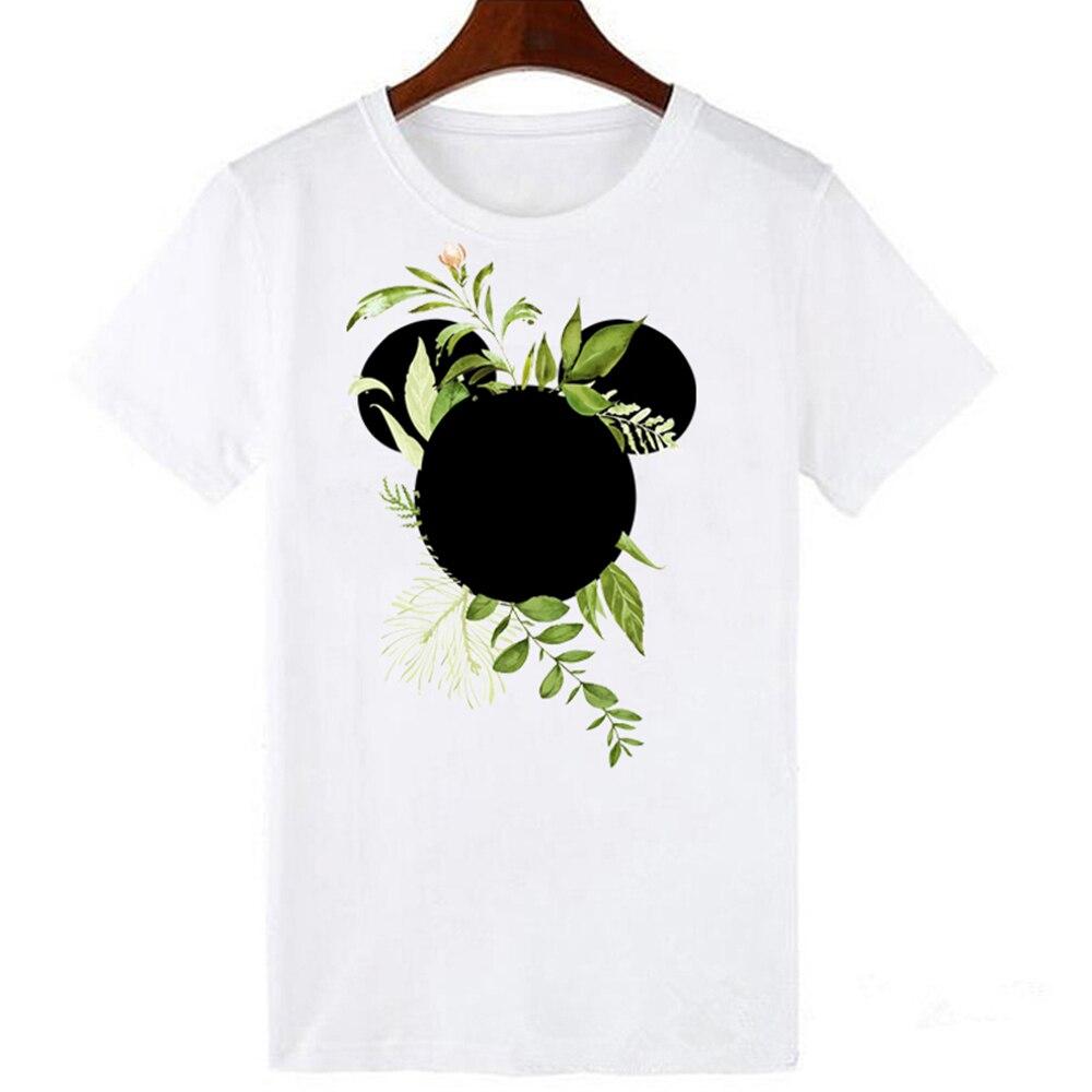 T Shirt Women Plus Size Harajuku Tops Summer Tops Graphic Tees Women Mickey Mouse Heartbeat Kawaii T-shirt S-3XL