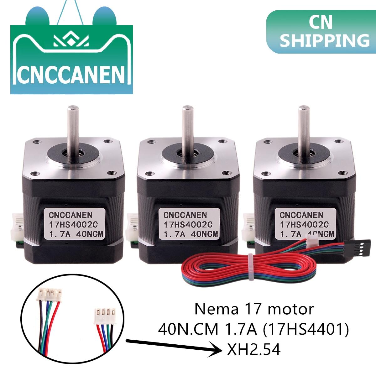 1/3/5PCS Nema17 Stepper Motor 42 Motor Nema 17 Motor 40mm 1.7A (17HS4401) Motor 4-lead For 3D Printer XH2.54