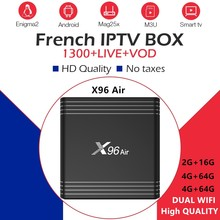 X96Air tv box android 9.0 Francese abbonamento iptv 16G 32G 64G ROM + 1300 In Diretta NEO TV arabo Beigium Marocco smart box iptv(China)