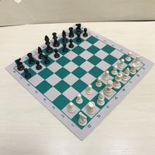 Новый высококачественный турнир из ПВХ и кожи 34,5x34, 5 см/42x42 см, развивающая шахматная доска для детских образовательных игр