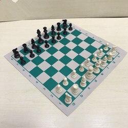 Nova 34.5x34.5cm/42x42cm torneio de couro pvc alta qualidade placa de xadrez educacional para jogos educativos das crianças