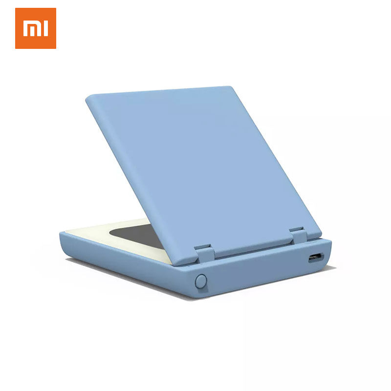 <font><b>Xiaomi</b></font> <font><b>3000mAh</b></font> Makeup Mirror Mini <font><b>Power</b></font> <font><b>Bank</b></font> Portable Charger Small Makeup Dual External Mirror With LED Batterie Externe image