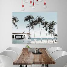 Affiches et imprimés de camping-car de plage, style Boho rétro, affiche de salon moderne