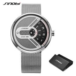 Sinobi 2020 New Creative Design High Quality Men's Watches Fashion Turntable Men Quartz Wrist watch for Men Clock reloj hombre