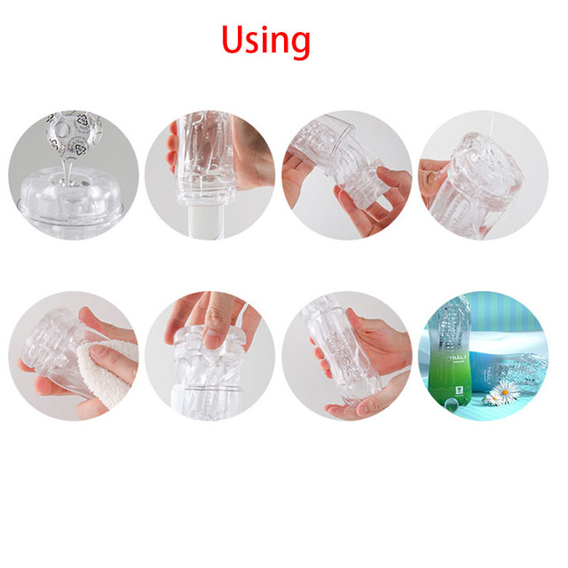 Male 3D Realistic Vagina Masturbator Pocket Cup Pussy Sex Toys For Men Transparent Exercise Beginner Masturbation Sex Products 6