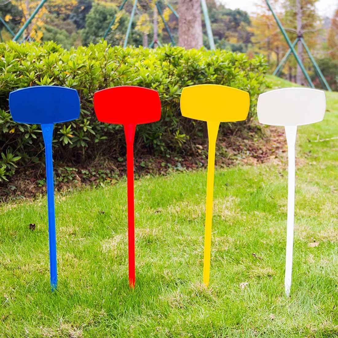 10 Uds. 30cm etiquetas de plantas hacia arriba marcadores de plantas de jardín etiquetas de vivero estacas para jardín-amarillo S