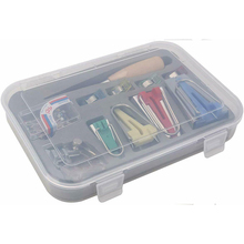 Durable Sewing Tool New Fabric Bias Binding Tape Maker Kit Binder Foot Clips Wooden Awl Pins Set Quilting Patchwork Tools New