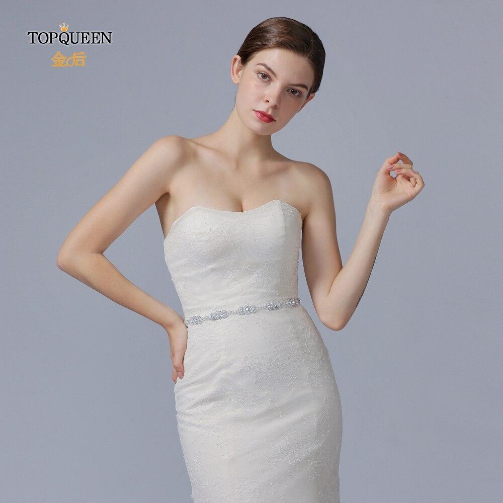 TOPQUEEN S215 Rhinestone Belt Diamonds Belt Wedding Women Sash Wedding Sash Bridal Belts Wedding Bridal Sashs Fast Delivery