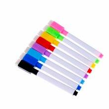 10 шт со стирающимися чернилами Магнитная белая ручка маркер