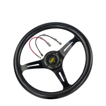 Modified OMP steering wheel carbon fiber 14 inch/350mm imitation racing universal