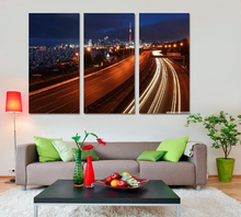 Modern Colorful Photo Picture highway at night Room Decor Cities Canvas Art Painting Living Bedroom