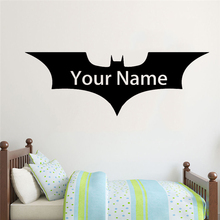 цена на Bat Pattern Wall Sticker Removable Wall Stickers DIY Name Wallpaper for Living Room Bedroom Stikers for Wall Decoration Murals