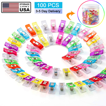 100PCS Sewing Clips Plastic for Fabric Quilting Craft Knitting Crochet Garment US