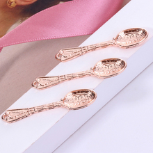 Women's Fashion Jewelry Zinc Alloy Pendant Spoon-shaped Pendant Jewelry Golden Rose Golden Jewelry Metal movable skeleton shaped zinc alloy pendant necklace bronze