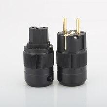 Hifi ses 5pairs Hifi End altın kaplama ab priz ve IEC konnektör fiş için güç kablosu