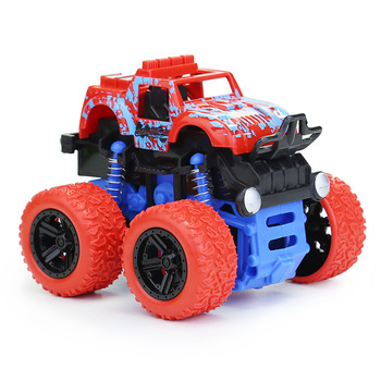Toys for Children Four-wheel Drive Inertia Simulation Off-road Vehicle Boys Model Big Wheel Stunt Educational Kids Car Gift W09 image