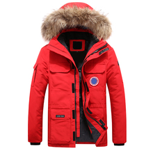 Winter Warm Men Jacket Jacket Casual Autumn Stand-Up Collar Down Thick Hood White Duck Parka Coat Men Winter Hooded Down Jacket
