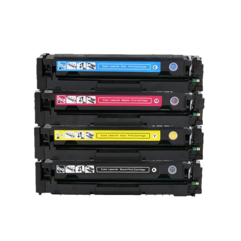 4PK Cartouche De Toner Compatible CF510A-CF513A pour HP M154 M180n M181fw CF510A CF510 CF511A CF512A CF513A 204A imprimante